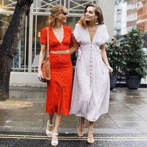 Free people v-neck linen dress